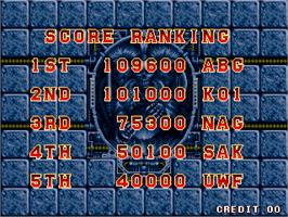 High Score Screen for Perfect Soldiers.