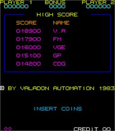 High Score Screen for Pickin'.
