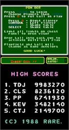 High Score Screen for PinBot.