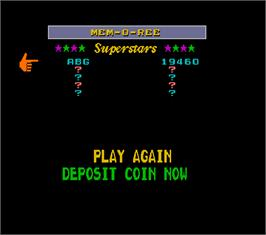 High Score Screen for Pit Boss Megatouch II.