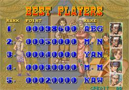 High Score Screen for Power Instinct.