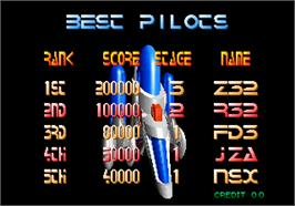 High Score Screen for Pulstar.