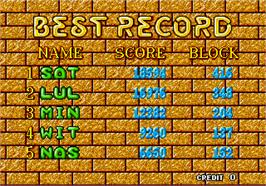 High Score Screen for Puyo Puyo.