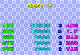 High Score Screen for Puzzle Bobble.