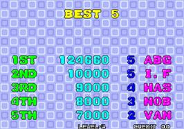 High Score Screen for Puzzle Bobble / Bust-A-Move.