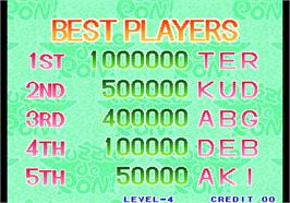 High Score Screen for Puzzle De Pon!.
