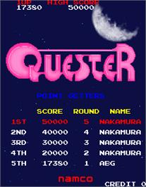 High Score Screen for Quester.