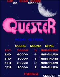 High Score Screen for Quester Special Edition.