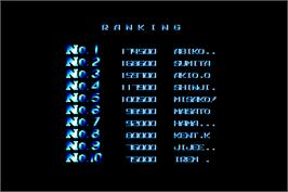 High Score Screen for R-Type.