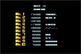 High Score Screen for R-Type II.