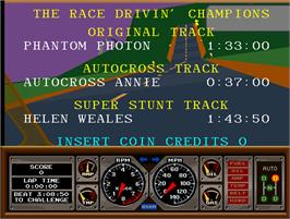 High Score Screen for Race Drivin'.