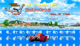 High Score Screen for Racin' Force.