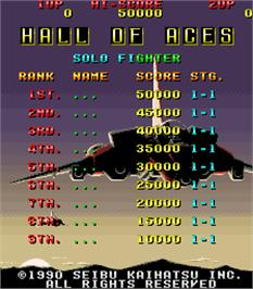 High Score Screen for Raiden.