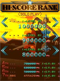 High Score Screen for Raiden Fighters Jet.