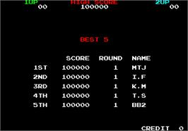 High Score Screen for Rainbow Islands.