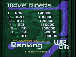 High Score Screen for Ray Crisis.