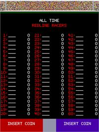 High Score Screen for Redline Racer.