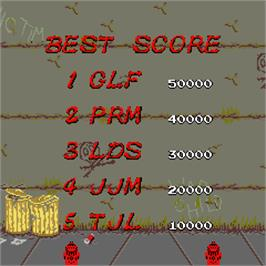 High Score Screen for Renegade.