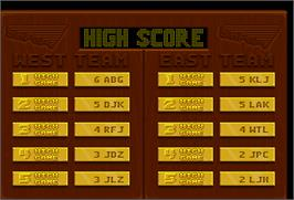 High Score Screen for Rim Rockin' Basketball.