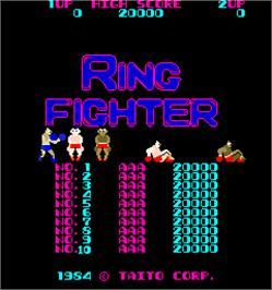 High Score Screen for Ring Fighter.