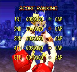 High Score Screen for Rival Schools.