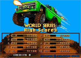 High Score Screen for Road Riot's Revenge.
