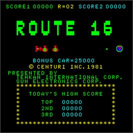 High Score Screen for Route 16.
