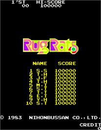 High Score Screen for Rug Rats.