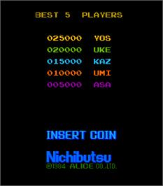 High Score Screen for Sector Zone.