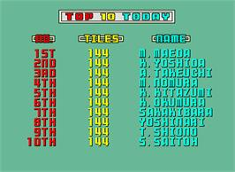 High Score Screen for Shanghai.