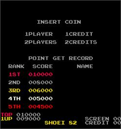 High Score Screen for Sky Army.