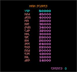 High Score Screen for Snake Pit.