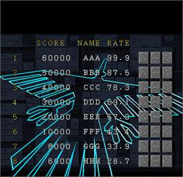 High Score Screen for Solvalou.