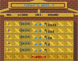 High Score Screen for Souko Ban Deluxe.