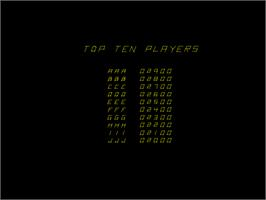 High Score Screen for Space Fury.