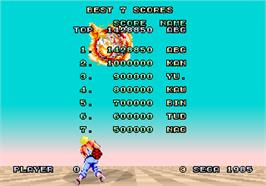 High Score Screen for Space Harrier.