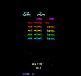High Score Screen for Space Thunderbird.