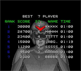 High Score Screen for Spark Man.
