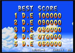 High Score Screen for Spin Master / Miracle Adventure.