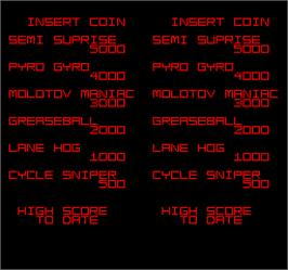 High Score Screen for Spy Hunter 2.