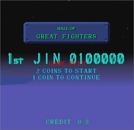 High Score Screen for Starblade.