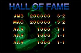 High Score Screen for Steel Force.