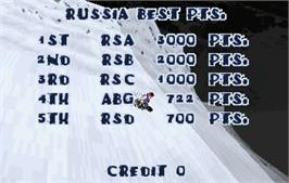 High Score Screen for Steep Slope Sliders.