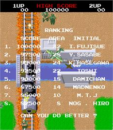 High Score Screen for Storming Party / Riku Kai Kuu Saizensen.