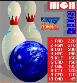 High Score Screen for Strata Bowling.
