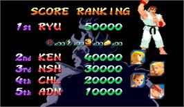 High Score Screen for Street Fighter Alpha 2.