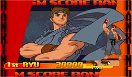 High Score Screen for Street Fighter Alpha 3.