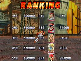 High Score Screen for Street Fighter EX 2 Plus.