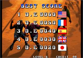 High Score Screen for Street Hoop / Street Slam / Dunk Dream.