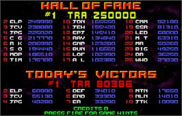 High Score Screen for Strike Force.